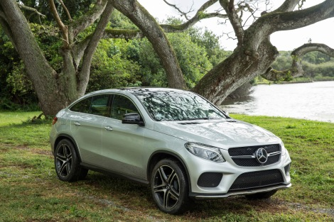 The all-new Mercedes-Benz GLE Coupé on location at the set of Jurassic World.