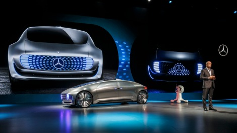 Dr Dieter Zetsche, Chairman of Daimler AG and Head of Mercedes-Benz Cars is presenting the Mercedes-Benz F 015 Luxury in Motion. With the self-driving luxury sedan F 015 Luxury in Motion, Mercedes-Benz shows how the automobile is changing from a means of transportation to a private retreating space.