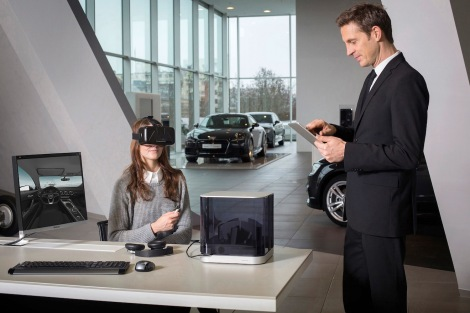 The Audi VR experience gives customers the opportunity to configure their preferred car at the dealership through virtual reality headsets and experience it in a unprecedentedly realistic way. The headset showcases the entire model portfolio of the four rings, including all possible equipment combinations. Audi has become the first automotive manufacturer to develop a dedicated retail software solution for virtual reality headsets.