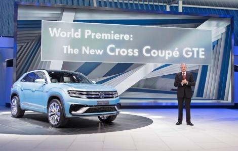 North American International Auto Show in Detroit 2015 Volkswagen Pressekonferenz