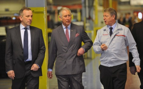 His Royal Highness The Prince of Wales visits Nissan