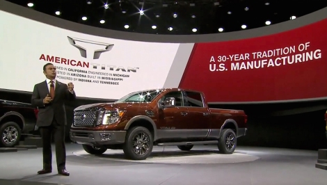 "Nissan debuted the all-new Nissan TITAN full-size pickup to a standing room-only crowd of international media at the 2015 North American International Auto Show. Presiding over the dramatic reveal was Nissan President and Chief Executive Officer Carlos Ghosn, who stated, ""With the 2016 Nissan TITAN XD, we weren't just going for 'best-in-class.' Instead, we are offering the 'Best New Class.'"""