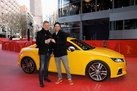 Wayne Griffiths, Head of Sales for Germany AUDI AG, presented the new car to Daniel Brühl, Audi brand ambassador and jury member Berlinale 2015