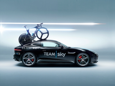 The creation of a bespoke Jaguar F-TYPE Coupé sports car, complete with Team Sky livery and unique bike rack design.