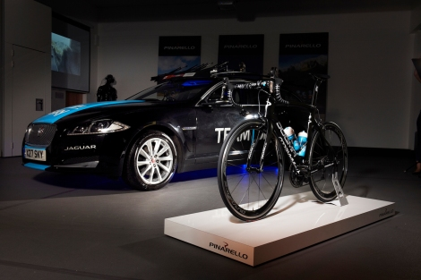 The launch of the Pinarello Dogma F8 bicycle for Team Sky, engineered in partnership with Jaguar.