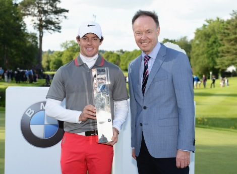 May 2014. BMW PGA Championship. Rory McIlroy, Dr. Ian Robertson, Member of the Board of Management of BMW AG, Sales and Marketing BMW