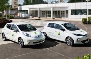 PARIS (May 27, 2015) - The Renault-Nissan Alliance, the world leader in zero-emission mobility*, will provide a fleet of 200 all-electric vehicles as the official passenger-car provider for the United Nation's COP21 climate conference in Paris later this year. Pictured are the Nissan LEAF and Renault ZOE.