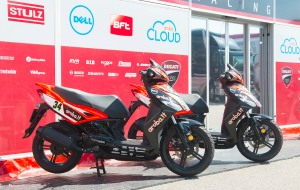 in fluorescent red and black for the Aruba.it Racing - Ducati Superbike Team in SBK
