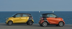 Smart_fortwo_Lava_Orange_met_Night_Black & Smart_forfor_Yellow_met_Black