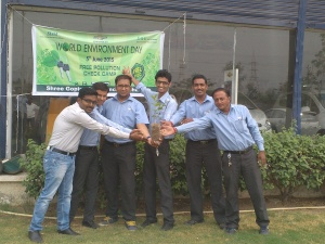 GM India Employees Planted Tree Saplings on World Environment Day, 2015